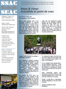our newsletter society for the study for architecture in canada